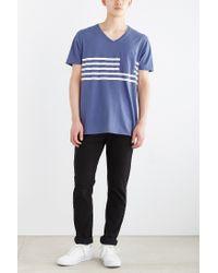 BDG | Blue Striped Pocket Standard-fit V-neck Tee for Men | Lyst