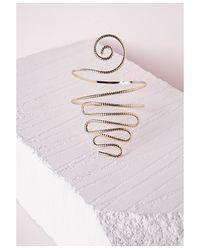 Missguided | Metallic Weave Festival Arm Cuff Gold | Lyst