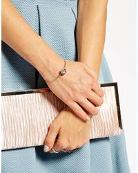 Ted Baker - Pink Sapelle Cupchain Ultrafine Cuff Bracelet - Lyst