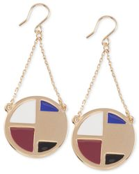 French Connection | Multicolor Gold-tone Trapeze Drop Earrings | Lyst