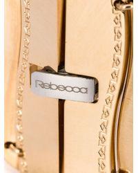 Rebecca | Metallic Wavy Flat Bracelet With Crystals | Lyst