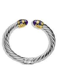 David Yurman | Metallic Renaissance Bracelet With Amethyst, Iolite & Gold | Lyst