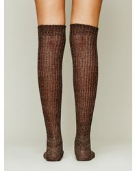 Free People | Brown Hand Knit Marl Thigh Hi | Lyst