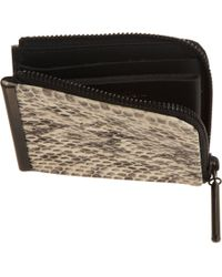 3.1 Phillip Lim - Natural Snakeskin Small Zip Wallet - Lyst