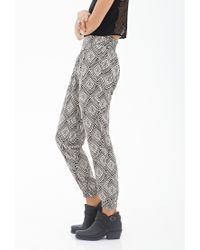Forever 21 - Black Abstract Woven Joggers - Lyst