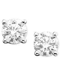 Macy's | Diamond Stud Earrings (3/4 Ct. T.w.) In 14k White Or Yellow Gold | Lyst