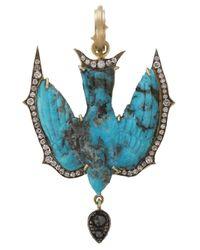 Sylva & Cie | Blue Turquoise Swallow Pendant | Lyst