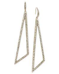 ABS By Allen Schwartz | Metallic Gold Coast Pavé Teardrop Earrings | Lyst