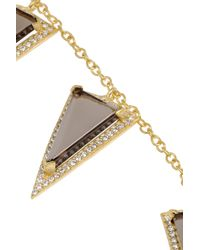 Kevia | Metallic Gold-plated, Quartz And Crystal Necklace | Lyst