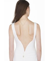 AKIRA - Metallic Bare All Gold Low Back Necklace - Lyst