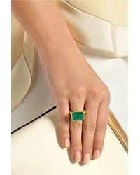Pippa Small - Green 18-Karat Gold Emerald Ring - Lyst