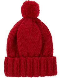 The North Circular | Red Alpaca Bobble Hat | Lyst