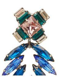 DANNIJO - Green Silver-Plated Crystal Simon Drop Earrings - Lyst