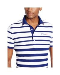 Ralph Lauren - Blue Tailored-fit Striped Polo for Men - Lyst