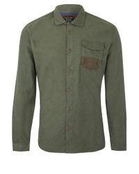 Barbour - Green Olive Flannel Shirt for Men - Lyst