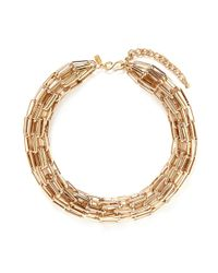 Kenneth Jay Lane - Metallic Multi Chain Tube Necklace - Lyst
