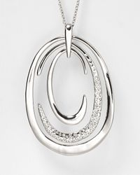 Alexis Bittar - Metallic Pave Crystal Asymmetrical Orbiting Pendant Necklace 30 - Lyst