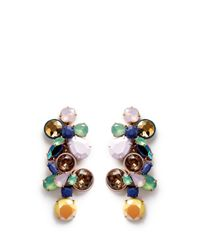 J.Crew | Multicolor Gem Cluster Earrings | Lyst