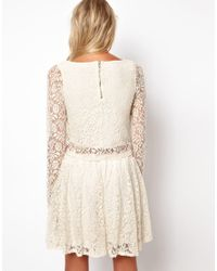 Love   Natural Crop Top in Lace   Lyst