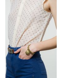 Lulu Frost - Metallic Victorian Plaza Charm Number Bracelet #5 - Lyst