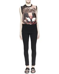 Givenchy - Black Inlay-detail Jersey Leggings - Lyst