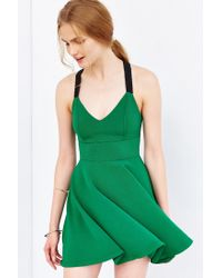 Silence + Noise | Green Emerald City Wide-strap Mini Dress | Lyst