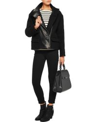 Zac Zac Posen - Black Eartha Snake-effect And Smooth Leather Tote - Lyst