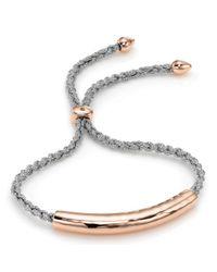 Monica Vinader | Metallic Esencia 18Ct Rose Gold-Plated Friendship Bracelet - For Women | Lyst
