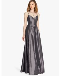 Halston | Metallic Memory Taffeta Structured Gown | Lyst