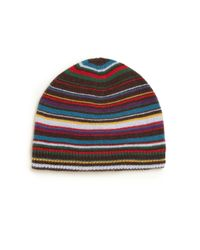 Paul Smith   Brown Striped Beanie for Men   Lyst