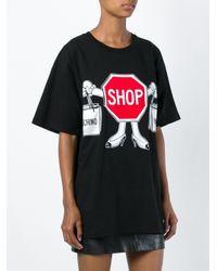 Moschino | Black Shop Print Oversized T-shirt | Lyst