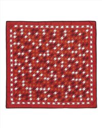 Jaeger - Red Stretched Houndstooth Scarf - Lyst