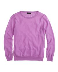 J.Crew - Purple Preorder Collection Featherweight Cashmere Longsleeve Tee - Lyst