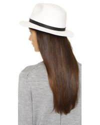 Rag & Bone - White Abbott Fedora - Heather Grey - Lyst
