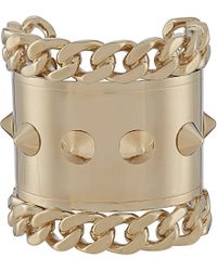 Givenchy | Metallic Pale Gold-Toned Studded Cuff Bracelet - For Women | Lyst