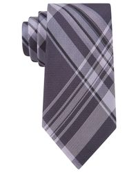 Calvin Klein | Purple University Plaid Slim Tie for Men | Lyst