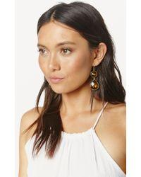 Soixante Neuf | Yellow Double Drop Earrings | Lyst