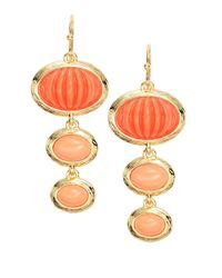 Trina Turk | Orange Cabochon Drop Earrings | Lyst