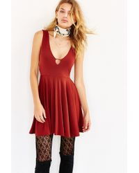 Silence + Noise - Brown Starlet Fit + Flare Dress - Lyst