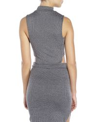 Re:named | Gray Houndstooth Crop Top | Lyst