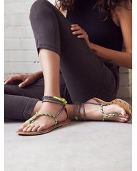 Kim & Zozi - Yellow Cosworth Wrap Sandal - Lyst