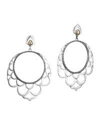 John Hardy | Metallic Naga 18K & Silver Lace Hoop Earrings | Lyst