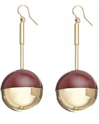 Marni | Metallic Resin And Gold-toned Drop Earrings | Lyst