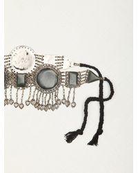 Free People - Metallic Silk Road Design Womens Lapis Metal Belt - Lyst