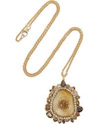 Kimberly Mcdonald | Metallic 18karat Rose Gold Geode and Diamond Necklace | Lyst