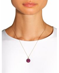 Alison Lou - Purple Ruby, Rhodium & Yellow-Gold Necklace - Lyst