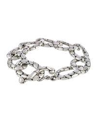 John Hardy | Metallic Kali Pebbled Flat Link Bracelet | Lyst