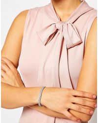 ASOS - Metallic Crystal Stretch Bracelet - Lyst