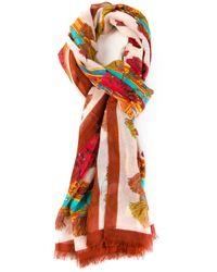 Dolce & Gabbana - Orange Sicilia Scarf - Lyst