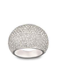 Swarovski | Metallic Stone Crystal And Silvertone Ring Size 8 | Lyst